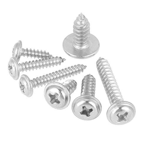 Cabeza de botón, 220 piezas M3 M4 M5 304 Acero inoxidable Pan Head Cross Tapper Tornillos autorroscantes para chapa, plástico y fibra de vidrio
