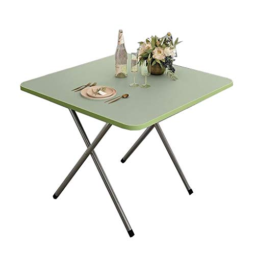 Mesa de comedor plegable, mesa de café, mesa cuadrada, mesa de estudio, escritorio pequeño, mesa de picnic portátil, 60 x 60 x 50 cm, 5 colores (color: B)