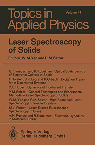 Laser Spectroscopy of Solids (Topics in Applied Physics (49), Band 49)