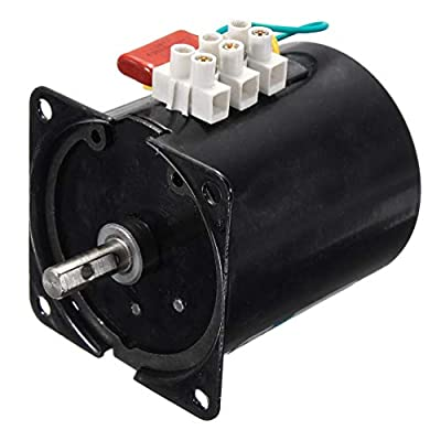 HOCOVER AC Synchronous Motor Speed Reducing Claw-Pole Type Synchronous Gear Motor Gearbox Replacement 60KTYZ - Torque:12kg.cm Speed: 30r/min