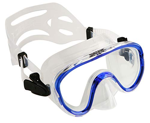 Seac Marina SLT Snorkelmasker voor kinderen, uniseks, transparant/blauw, één maat