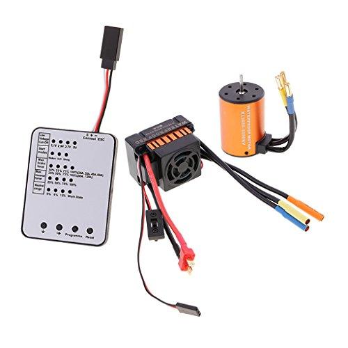 SM SunniMix 3650 5200KV Motor Sin Escobillas + 60A ESC + Placa de Programación LED para Coche RC 1/10