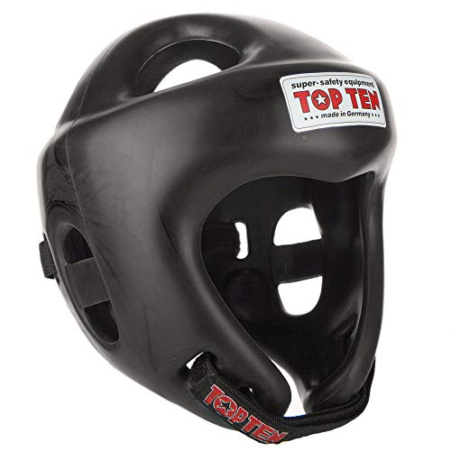 TopTen Competition Fight Helm, Schwarz, L 59-64 cm