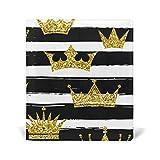Golen Crown - Funda de piel sintética con diseño de rayas para libros de texto (9 x 11 pulgadas)