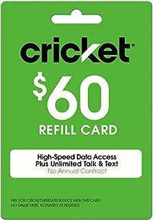 Cricket Refill Card $60 Cricket Wireless Refill Card $60
