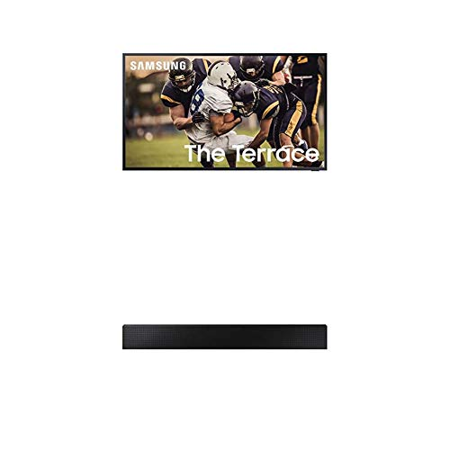 Samsung 65 LST7 QLED Terrace 4K UHD Smart TV 2020 (Alexa Built-in) with Samsung The Terrace Soundbar w/Dolby 5.1ch (2020)