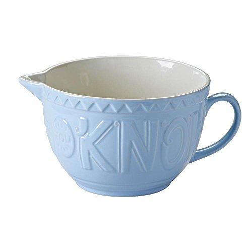 Mason Cash - tazza in ceramica stile'Bake My Day' con beccuccio inclinato, colore: blu.