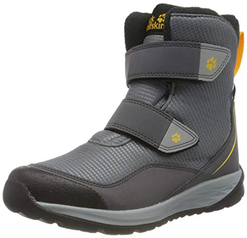 Jack Wolfskin POLAR BEAR TEXAPORE HIGH VC K Schneestiefel, pebble grey/burly yellow XT, 31 EU