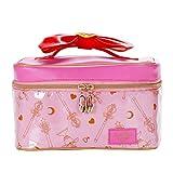 Sailor Moon Makeup Bag Portable Travel Cosmetics Storage Case Leather Makeup Organizer Gift for Girls Women