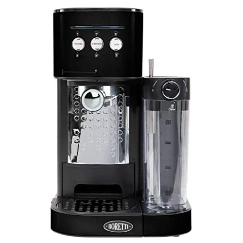 41I6i7Q38cL. SS500  - Boretti B400 Espresso Coffee Machine, Plastic, 1470 W, 1.2 liters, Black