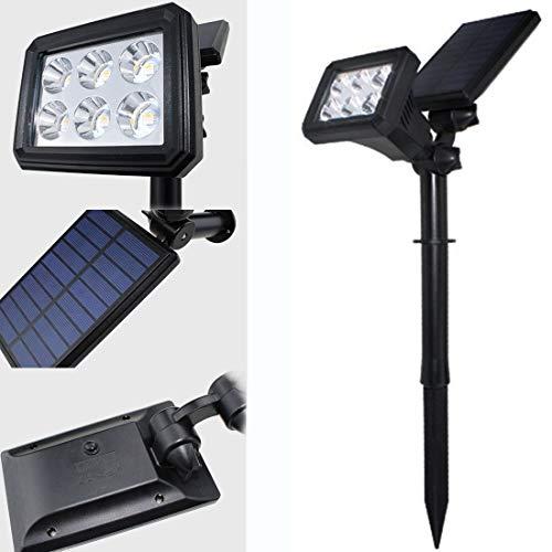 Dxyap Luces Solares para Exterior, Lámparas Solares, Focos LED Exterior Impermeable IP65, Angular de Ajuste Foco, Proyector Solar Exterior Jardin para Patio, Césped, Valla,Pasillo