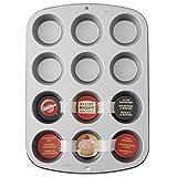 Wilton Recipe Right® Molde para Muffins, Cupcakes o Magdalenas de 12 cavidades con base de 5cm,...