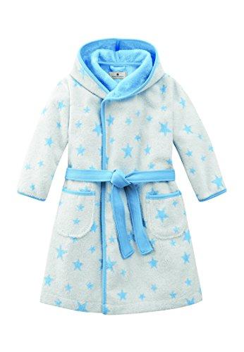 Bellybutton Kids Baby - Jungen Bademantel Bellybutton Kids Bademantel mit Gürtel und Sternen, 10959-40248, Gr. 80, Blau (stars light blue)