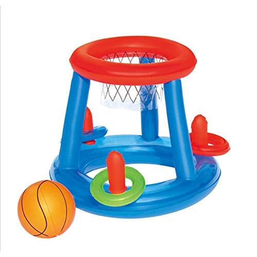 Pool Volleybal Game - Aufblasbares Wasserballspiel - Volleyballnetz, Aufblasbare Pool Volleyball Spieleset, Schwimmendes Wasser Volleyball Spiel Ringwurfspiel Pool Spielzeug für Erwachsene und Kinder