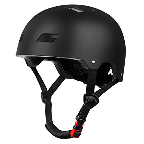 YUFU Kids Helmet for Toddler Helmet Adjustable Kids Bicycle Helmet Ages 3-14 Years Old Boys Girls Multi- Sports Safety Cycling Skating Scooter and Other Extreme Activities Helmet for Kids (M, Black)