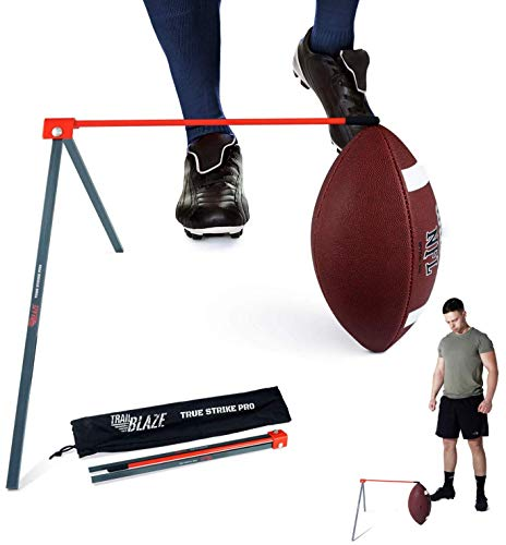 Trailblaze True Strike Pro Football Tee Kicking Holder - Premium Quality Kicking Tee Football Holder Field Goal Practice Compatible with All Ball Sizes Quality Promise