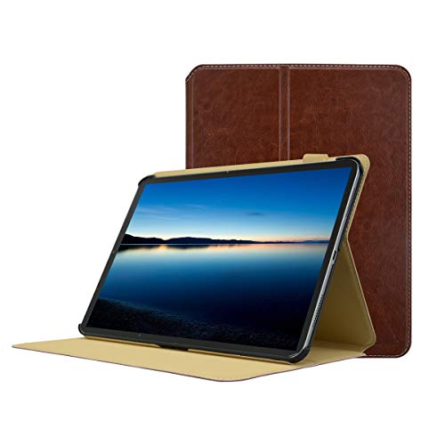 MOSISO hoes compatibel iPad Pro 11 inch 2018 versie, premium PU lederen Smart Stand 2 vouwen boek Folio bescherming tablet beschermhoes met auto wekken/slapen & magneetsluiting & multi display hoek bruin