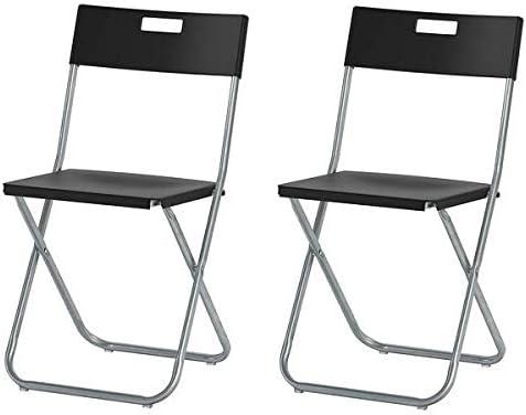Ikea Gunde – Silla plegable, color negro
