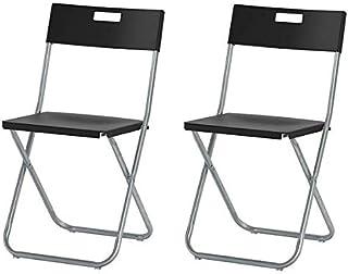 Ikea Gunde–Silla plegable color negro
