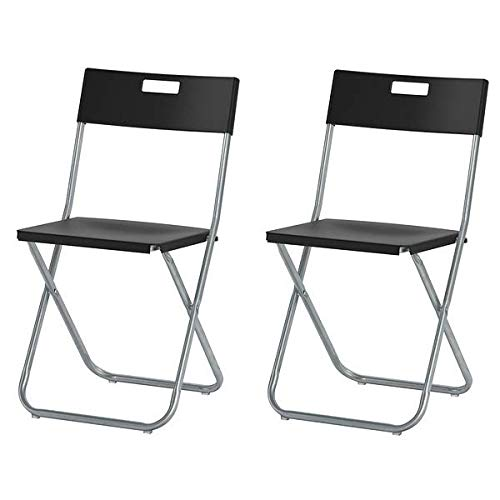 Ikea Gunde–Silla plegable, color negro