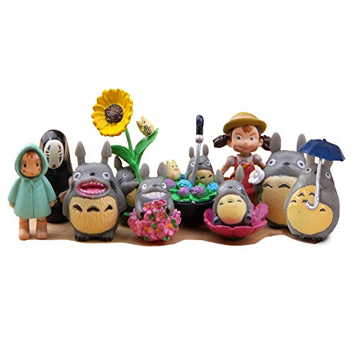 Killer's Instinct Outdoors 10 PCS My Neighbor Totoro Figure Hayao MiyazakiPONYO Spirited Away Anime Models