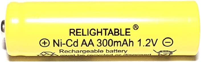 Solar Light AA Ni-CD 300 mAh Rechargable Batteries (Pack of 20)