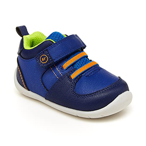 Stride Rite Baby Boys Theo First Walker Shoe, Navy, 3 Infant
