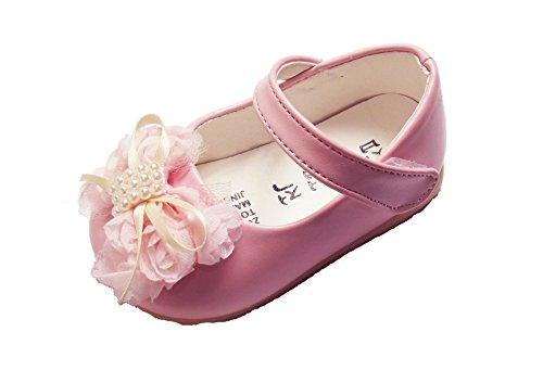 Cinda Baby- Blumen-Schuhe Rosa 22