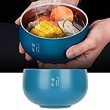 Ciotole per riso con isolamento termico Ciotola a doppio strato in acciaio inossidabile Caffetteria Casa da tè Cereali per spuntini Zuppa domestica(316 Jane Eyre Double Bowl: Blue Comfortable)
