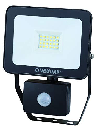 Velamp IS748-3-6500K Spot LED d'extérieur avec détecteur de mouvement, Noir