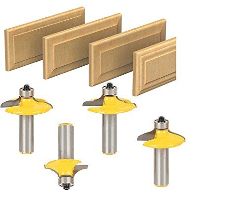 AccOED 1/2Shank Drawer Door Panel Lines Knife Milling Cutter Woodworking Chisel Fancy Knife4PCS/set
