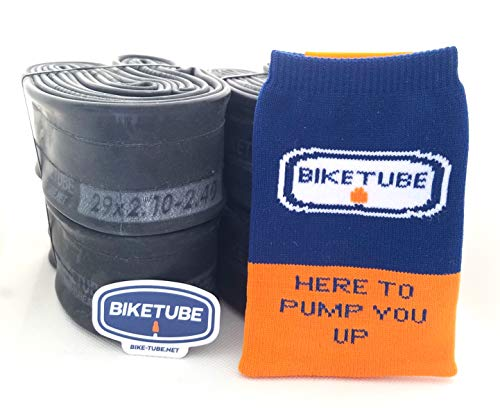 Biketube Brand Mountain Bike Inner Tubes - Super Value 4 Pack - Free TubeSock and Sticker - Select Your Size (27.5 x 2.1-2.4' Presta Valve)