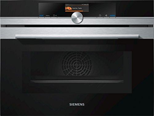Siemens CM676G0S1 iQ700 Mikrowelle / 1000 W / 45 L Garraum / activeClean Selbstreinigungs-Automatik / Edelstahl