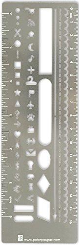 Metal Stencil Bookmark for Bullet Journals