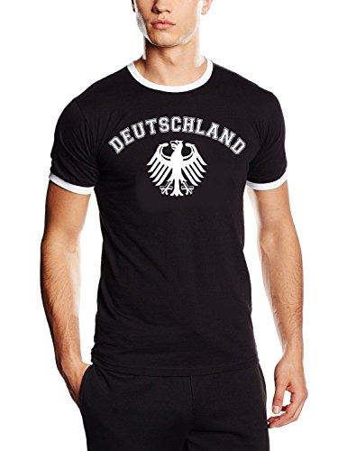 Coole-Fun-T-Shirts Deutschland Adler T-Shirt WM 2018 T-Shirt schwarz_HERI Herren Ringer Gr.XL