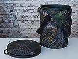 HHH HUNTING Spinning/Drehgelenk Jagen Schiessen Tarnfarbe Gepolstert Schalensitz mit Lager Taschen und Tragegurt -
