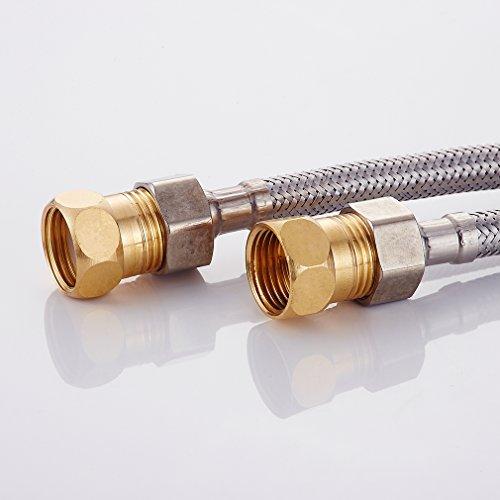 Auralum – Waschtisch-Armatur, Kalt- und Warmwasser, Sensorarmatur, Infrarot IR, Batteriebetrieb, Chrom - 2