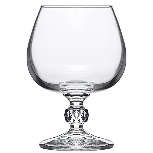 Copa de Vino Alto Línea de Vidrio sin Plomo Forma de Diamante de Cristal de Cristal de Brandy Cognac Glass Spirits Glass Sweet Bar Vino Conjunto,250ml