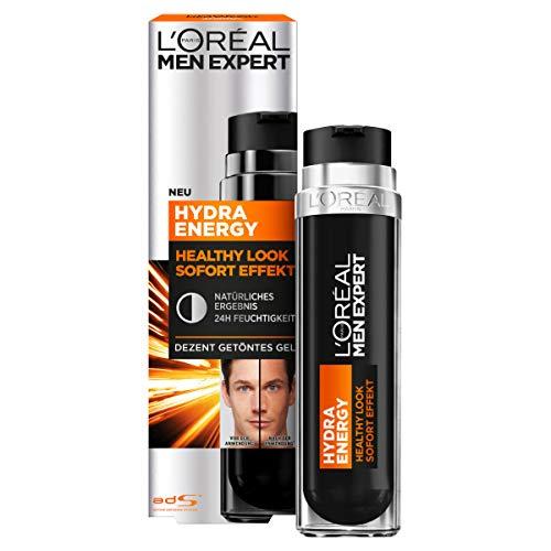 L'Oréal Men Expert Hydra Energy Healthy Look - mattierendes Gel mit Sofort Effekt, 24 Stunden Feuchtigkeit, natürlicher Teint, Gesichtscreme, 50 ml