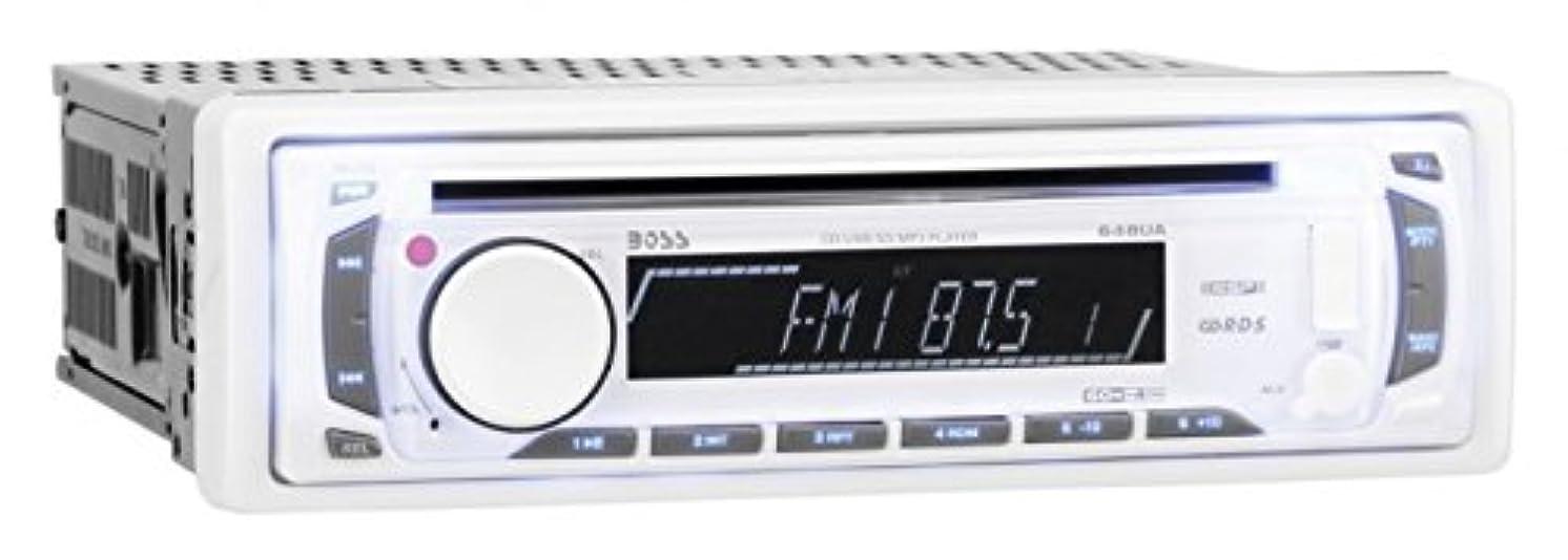 BOSS AUDIO MR648W Marine Single-DIN CD/MP3 Player Receiver, Detachable Front Panel, Wireless Remote