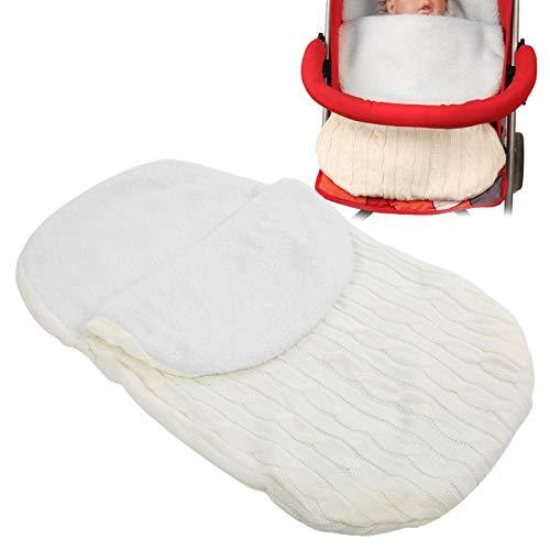 LFLF Newborn Baby Sleeping Matchet Baby Stroller Bag Soft Warted Durmed Wrapswhite