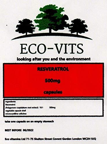 ECO-VITS RESVERATROL (500MG) 120 CAPS in confezione biodegradabile. Sacchetto sigillato