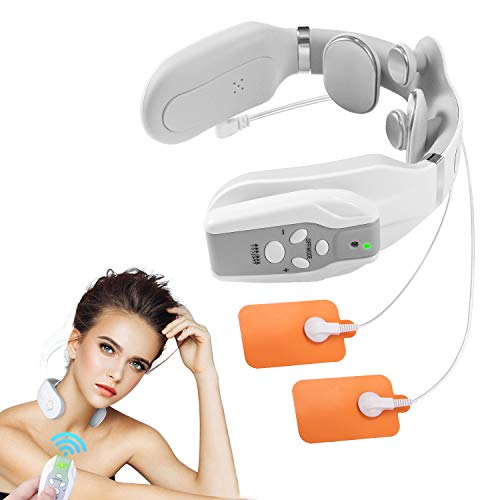 2021 Intelligent Neck Massager for Pain Relief Deep Tissue, 4D Portable Neck and Shoulder Massager, Smart Neck Massager with Heat Pads, Cordless Neck Massager for Woman and Men