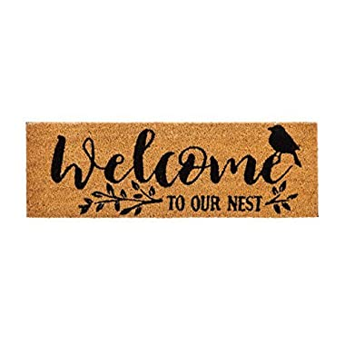 Evergreen Kensington Welcome to Our Nest Natural Coir Interchangeable Switch Mat - 28.25 W x 9.25 H