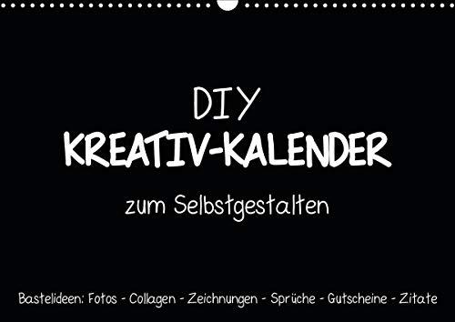 Bastelkalender: DIY Kreativ-Kalender -schwarz- (Wandkalender 2021 DIN A3 quer)
