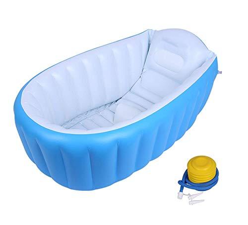 Hopz European Standard Baby Bath tub Bathing,Newborn Bath tub Baby Bath tub Plastic Non-Slip Bathtub Safety Security Shower Bathtub (Blue) (Blue)