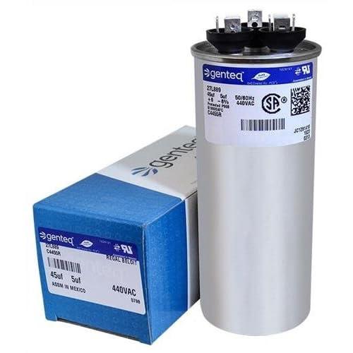 100335-12 - 45 + 5 uf MFD 440 Volt VAC - Lennox Round Dual