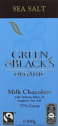 Green & Black's Organic Sea Salt Milk Chocolate, 100g