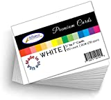 White Cardstock 5' X 7' Heavyweight | 80lb 216gsm Cardstock Sheets |100 Sheet Quantity | Great for Making Cards, Invitations, DIY Art Projects