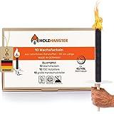 Holzhamster 10 Premium Wachsfackeln aus natürlichen Rohstoffen - 45Min. Brenndauer - Garten Fackeln...